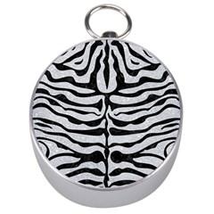 Skin2 Black Marble & Silver Glitter Silver Compasses by trendistuff
