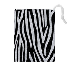 Skin4 Black Marble & Silver Glitter Drawstring Pouches (extra Large) by trendistuff