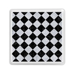 Square2 Black Marble & Silver Glitter Memory Card Reader (square)  by trendistuff