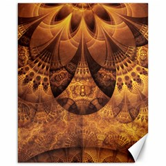 Beautiful Gold And Brown Honeycomb Fractal Beehive Canvas 16  X 20   by jayaprime