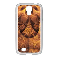 Beautiful Gold And Brown Honeycomb Fractal Beehive Samsung Galaxy S4 I9500/ I9505 Case (white) by jayaprime