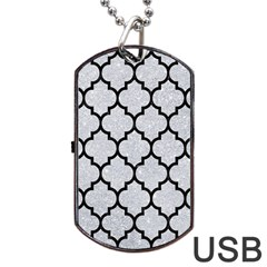 Tile1 Black Marble & Silver Glitter Dog Tag Usb Flash (one Side) by trendistuff