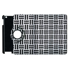 Woven1 Black Marble & Silver Glitter Apple Ipad 3/4 Flip 360 Case by trendistuff