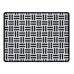 Woven1 Black Marble & Silver Glitter Double Sided Fleece Blanket (small)  by trendistuff