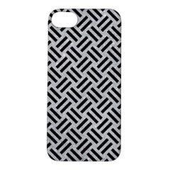 Woven2 Black Marble & Silver Glitter Apple Iphone 5s/ Se Hardshell Case by trendistuff
