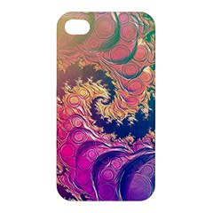 Rainbow Octopus Tentacles In A Fractal Spiral Apple Iphone 4/4s Hardshell Case by beautifulfractals