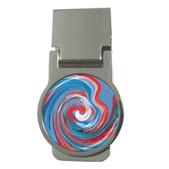 Red And Blue Rounds Money Clips (round)  by berwies