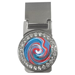 Red And Blue Rounds Money Clips (cz)  by berwies