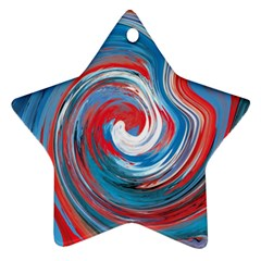 Red And Blue Rounds Star Ornament (two Sides) by berwies