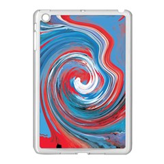 Red And Blue Rounds Apple Ipad Mini Case (white) by berwies