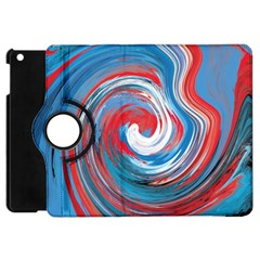 Red And Blue Rounds Apple Ipad Mini Flip 360 Case by berwies