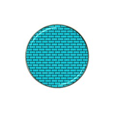 Brick1 Black Marble & Turquoise Colored Pencil Hat Clip Ball Marker by trendistuff