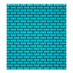 Brick1 Black Marble & Turquoise Colored Pencil Shower Curtain 66  X 72  (large)  by trendistuff