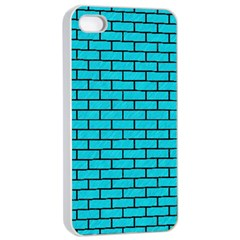 Brick1 Black Marble & Turquoise Colored Pencil Apple Iphone 4/4s Seamless Case (white) by trendistuff