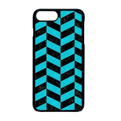 Chevron1 Black Marble & Turquoise Colored Pencil Apple Iphone 7 Plus Seamless Case (black) by trendistuff