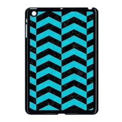 Chevron2 Black Marble & Turquoise Colored Pencil Apple Ipad Mini Case (black) by trendistuff