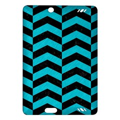 Chevron2 Black Marble & Turquoise Colored Pencil Amazon Kindle Fire Hd (2013) Hardshell Case by trendistuff
