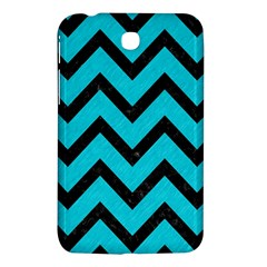 Chevron9 Black Marble & Turquoise Colored Pencil Samsung Galaxy Tab 3 (7 ) P3200 Hardshell Case  by trendistuff