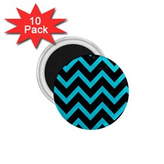 Chevron9 Black Marble & Turquoise Colored Pencil (r) 1 75  Magnets (10 Pack)  by trendistuff