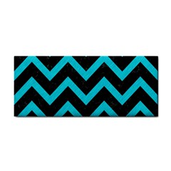 Chevron9 Black Marble & Turquoise Colored Pencil (r) Cosmetic Storage Cases by trendistuff