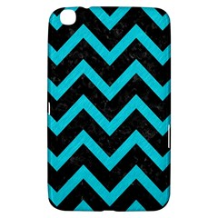 Chevron9 Black Marble & Turquoise Colored Pencil (r) Samsung Galaxy Tab 3 (8 ) T3100 Hardshell Case  by trendistuff