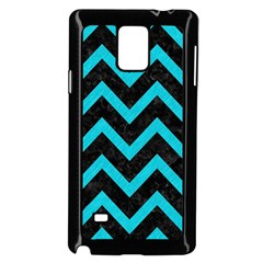 Chevron9 Black Marble & Turquoise Colored Pencil (r) Samsung Galaxy Note 4 Case (black) by trendistuff