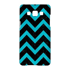Chevron9 Black Marble & Turquoise Colored Pencil (r) Samsung Galaxy A5 Hardshell Case  by trendistuff