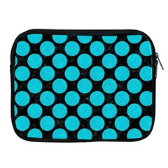 Circles2 Black Marble & Turquoise Colored Pencil (r) Apple Ipad 2/3/4 Zipper Cases by trendistuff