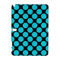 Circles2 Black Marble & Turquoise Colored Pencil (r) Galaxy Note 1 by trendistuff