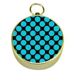 Circles2 Black Marble & Turquoise Colored Pencil (r) Gold Compasses by trendistuff