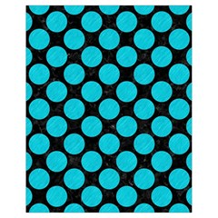 Circles2 Black Marble & Turquoise Colored Pencil (r) Drawstring Bag (small) by trendistuff