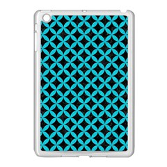Circles3 Black Marble & Turquoise Colored Pencil (r) Apple Ipad Mini Case (white) by trendistuff