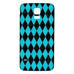 Diamond1 Black Marble & Turquoise Colored Pencil Samsung Galaxy S5 Back Case (white) by trendistuff