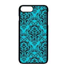 Damask1 Black Marble & Turquoise Colored Pencil Apple Iphone 7 Plus Seamless Case (black) by trendistuff