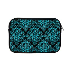 Damask1 Black Marble & Turquoise Colored Pencil (r) Apple Ipad Mini Zipper Cases by trendistuff