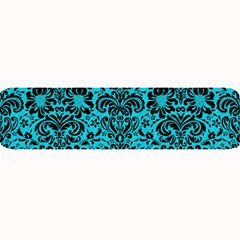 Damask2 Black Marble & Turquoise Colored Pencil Large Bar Mats by trendistuff