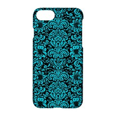 Damask2 Black Marble & Turquoise Colored Pencil (r) Apple Iphone 8 Hardshell Case