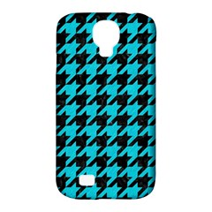 Houndstooth1 Black Marble & Turquoise Colored Pencil Samsung Galaxy S4 Classic Hardshell Case (pc+silicone) by trendistuff