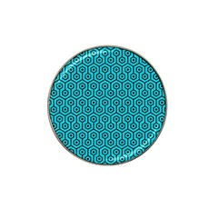 Hexagon1 Black Marble & Turquoise Colored Pencil Hat Clip Ball Marker by trendistuff