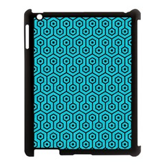 Hexagon1 Black Marble & Turquoise Colored Pencil Apple Ipad 3/4 Case (black) by trendistuff