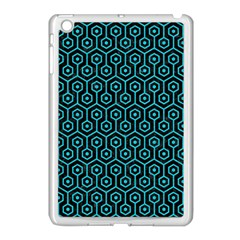 Hexagon1 Black Marble & Turquoise Colored Pencil (r) Apple Ipad Mini Case (white)