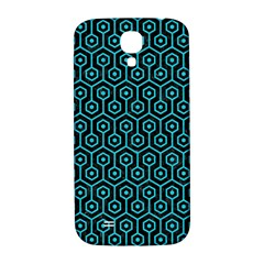 Hexagon1 Black Marble & Turquoise Colored Pencil (r) Samsung Galaxy S4 I9500/i9505  Hardshell Back Case