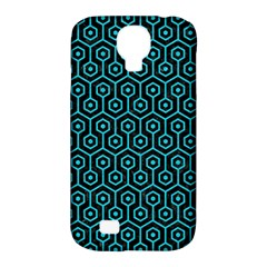 Hexagon1 Black Marble & Turquoise Colored Pencil (r) Samsung Galaxy S4 Classic Hardshell Case (pc+silicone) by trendistuff