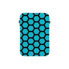 Hexagon2 Black Marble & Turquoise Colored Pencil Apple Ipad Mini Protective Soft Cases by trendistuff