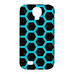 Hexagon2 Black Marble & Turquoise Colored Pencil (r) Samsung Galaxy S4 Classic Hardshell Case (pc+silicone) by trendistuff