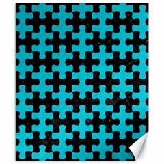 Puzzle1 Black Marble & Turquoise Colored Pencil Canvas 8  X 10  by trendistuff