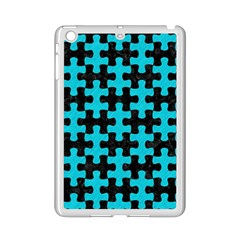 Puzzle1 Black Marble & Turquoise Colored Pencil Ipad Mini 2 Enamel Coated Cases by trendistuff