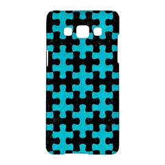 Puzzle1 Black Marble & Turquoise Colored Pencil Samsung Galaxy A5 Hardshell Case  by trendistuff