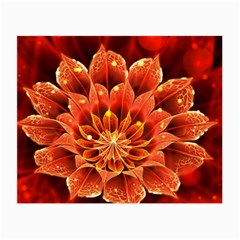 Beautiful Ruby Red Dahlia Fractal Lotus Flower Small Glasses Cloth by beautifulfractals