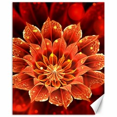 Beautiful Ruby Red Dahlia Fractal Lotus Flower Canvas 16  X 20   by beautifulfractals